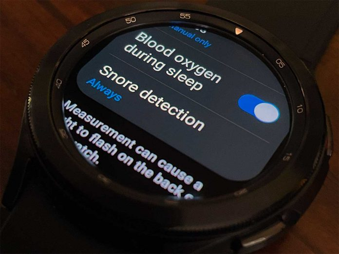 snore detection Samsung Health on Galaxy Watch 4