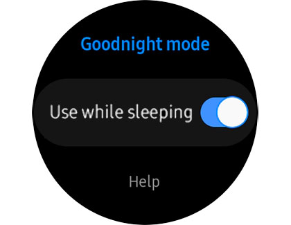 set up Samsung Galaxy watch to automatically turn on Goodnight mode while sleeping