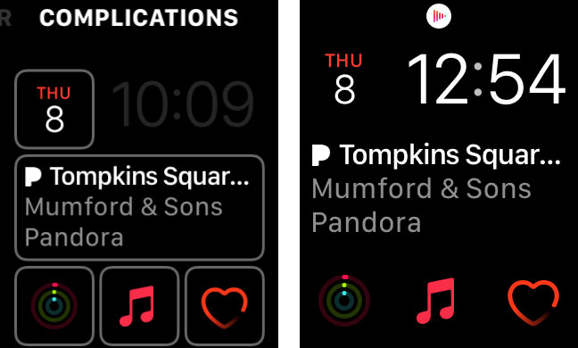 apple watch face complications save changes