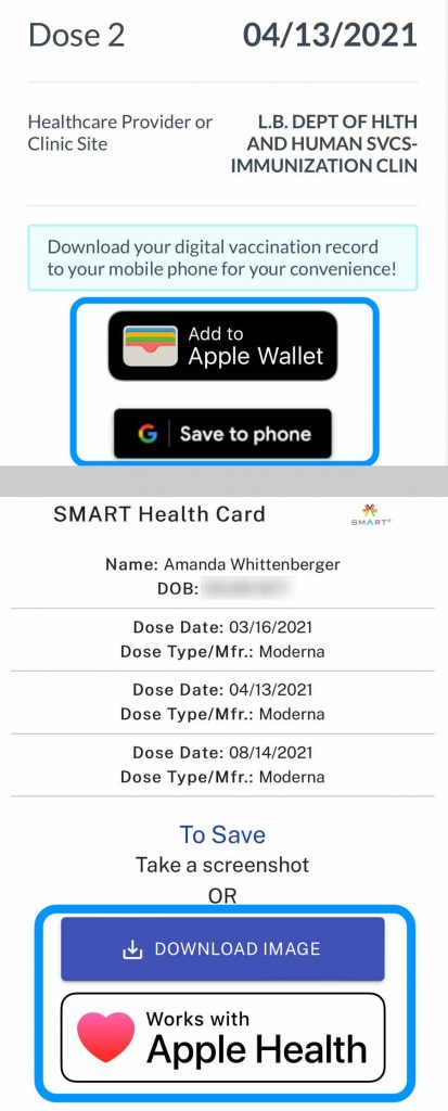 save covid vaccine record and certificate to your phone