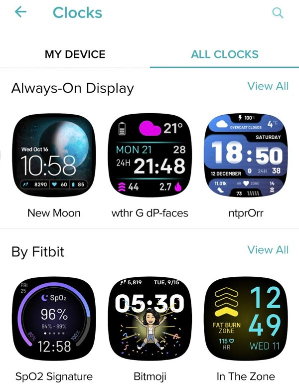 find a new and different clock face for your Fitbit using the Fitbit app