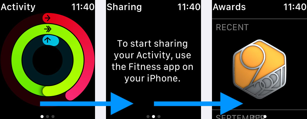 Review all your Apple activity badges and awards on Apple Watch