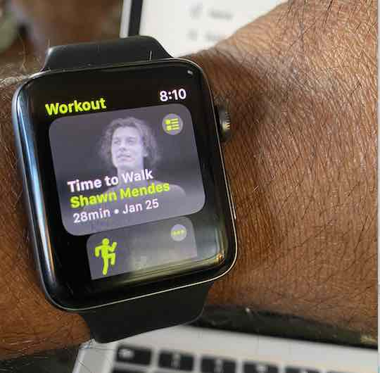 How to use Time to walk on Apple Watch