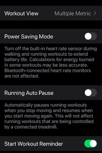 Customize workout metrics for Apple Watch