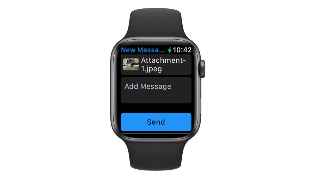 Apple Watch send a photo using the Photos app and Messages or Mail