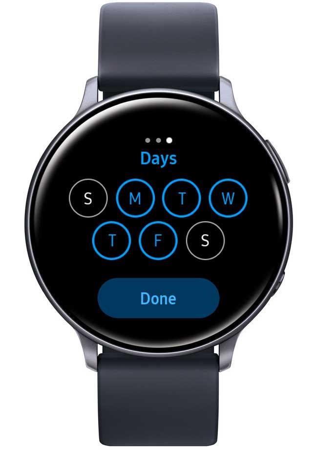 schedule DND for days on Samsung Galaxy Watch