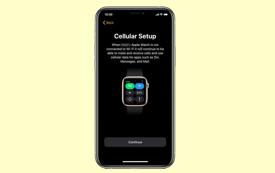 choose eSIM cellular service for family member's apple watch with Apple Watch Family Setup