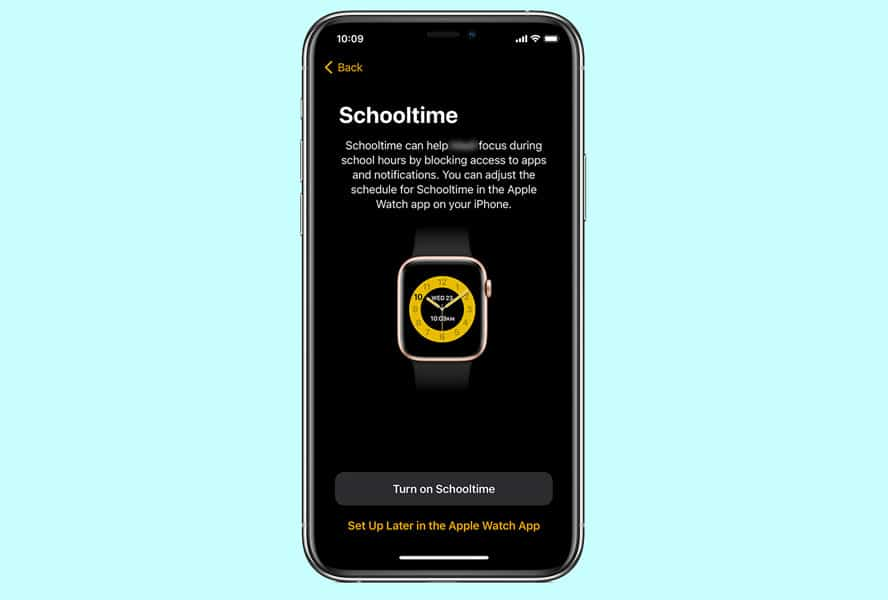 schooltime for apple watch