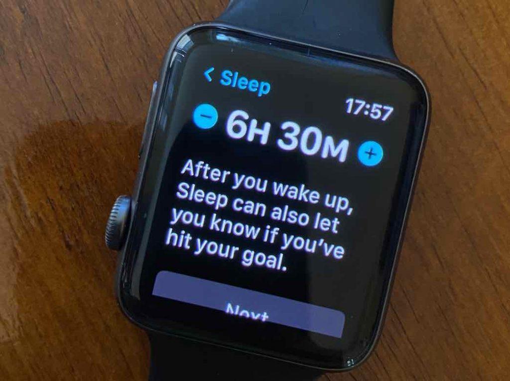 Set up sleep schedule on Apple Watch