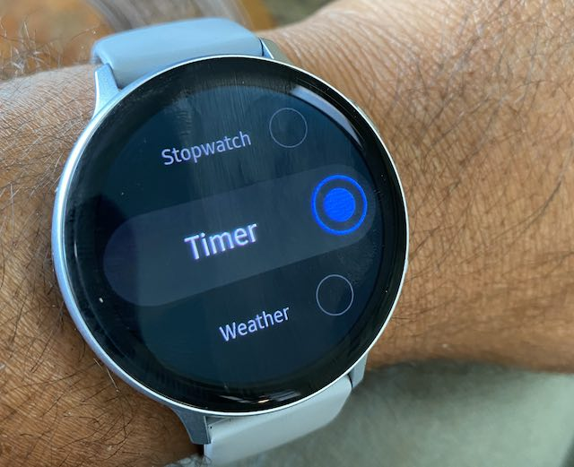 Set up Timer function on Samsung Galaxy Watch