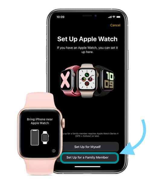 set up apple watch for family member who does not have an iPhone using Family Setup