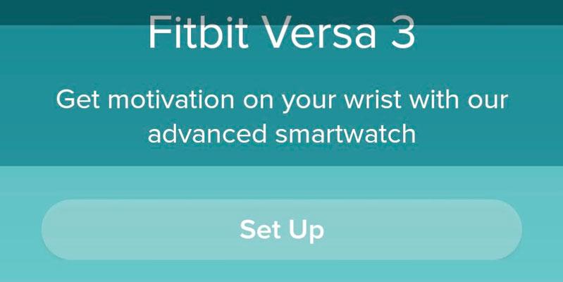Fitbit app set up banner