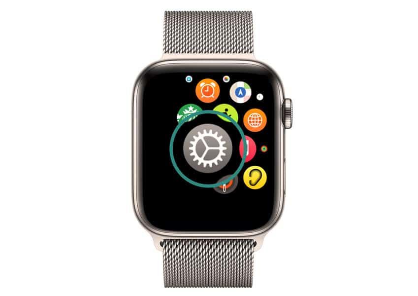 apple watch settings app
