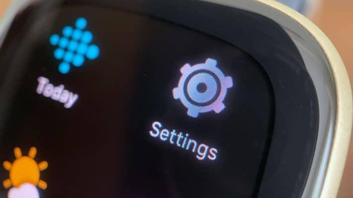 Fitbit watch Settings app