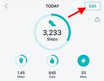 Set up weekly metrics on fitbit app