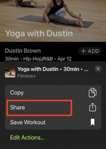 setting reminders for apple fitness workout