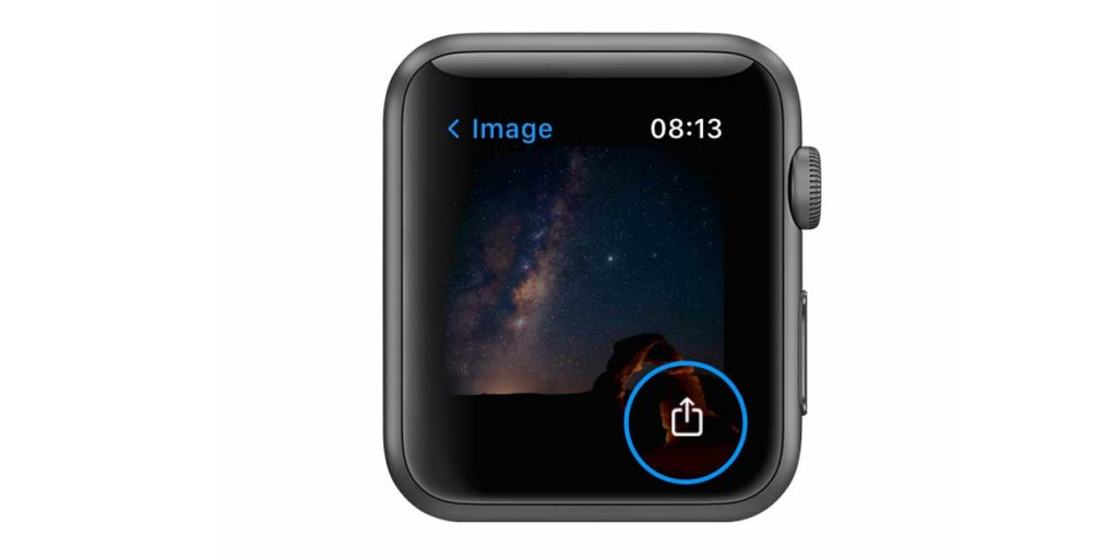 Apple Watch share a text message photo
