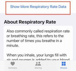Show more respiratory rate data