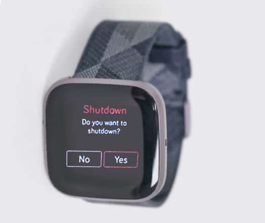 turn off and shutdown Fitbit