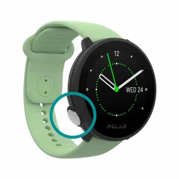 Polar unite smartwatch side button