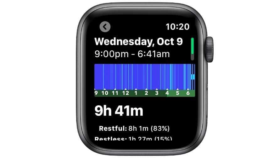 sleep tracking on Apple watch with Sleep++ app