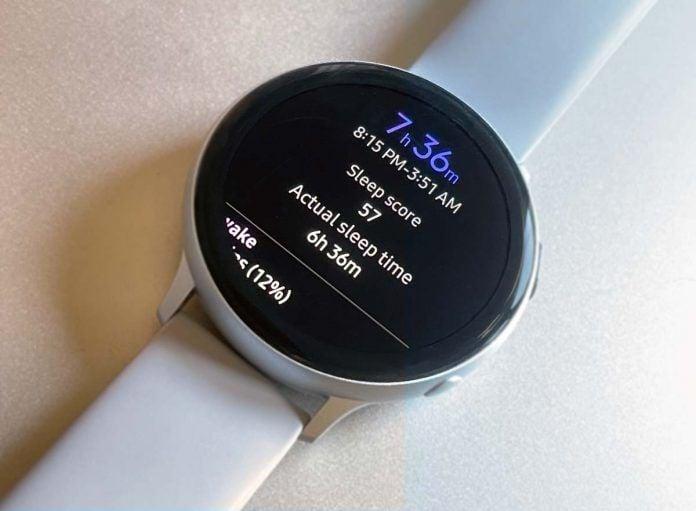 Samsung Galaxy watch sleep tracking