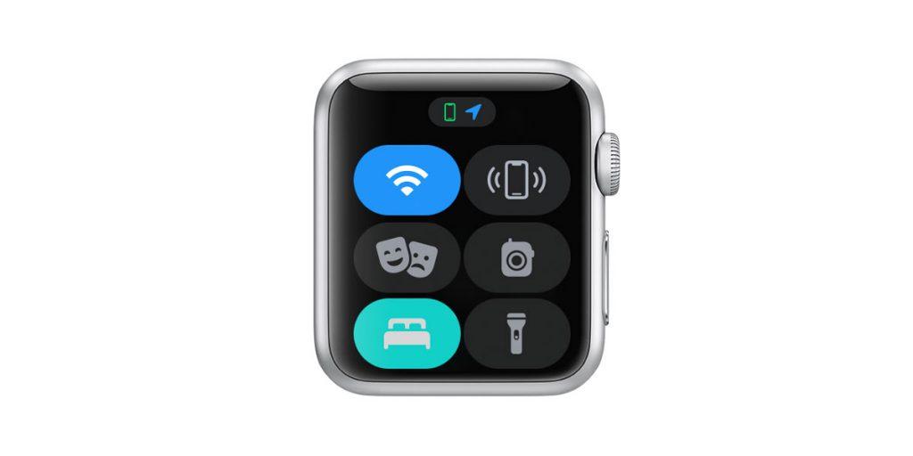 apple watch control center sleep mode active
