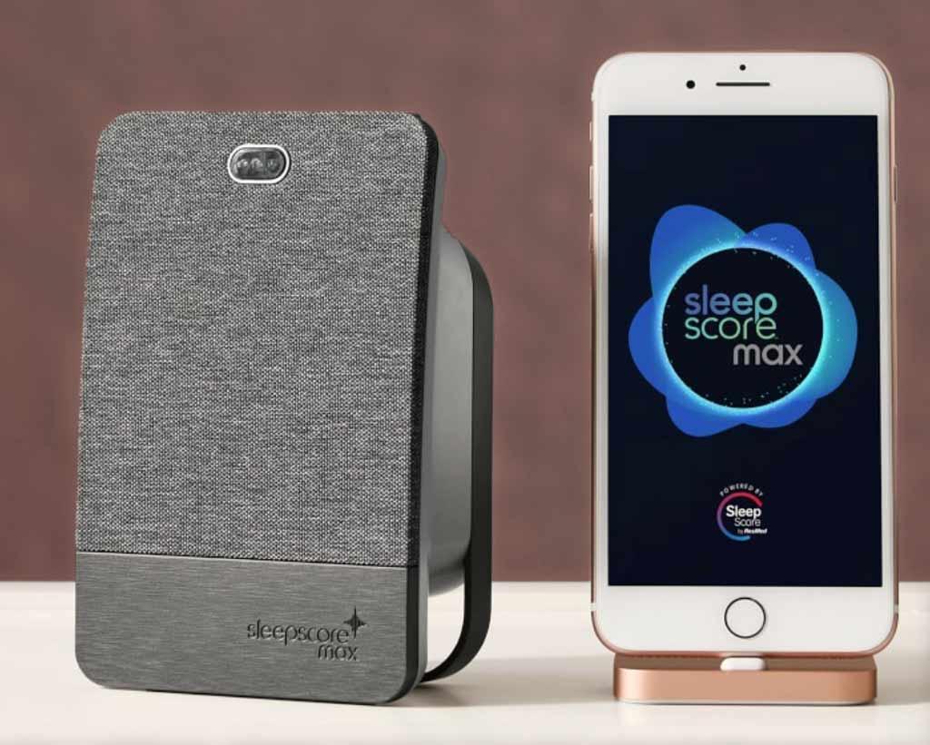 SleepScore Max device to monitor sleep quality