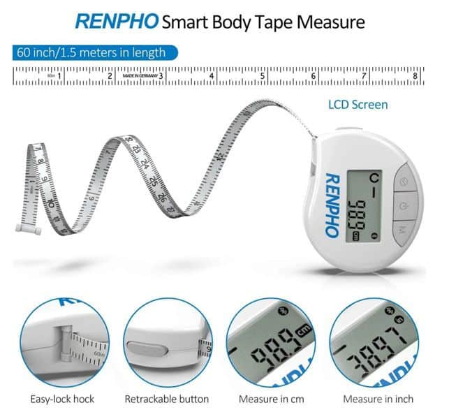 Renpho's smart bluetooth body tape measure