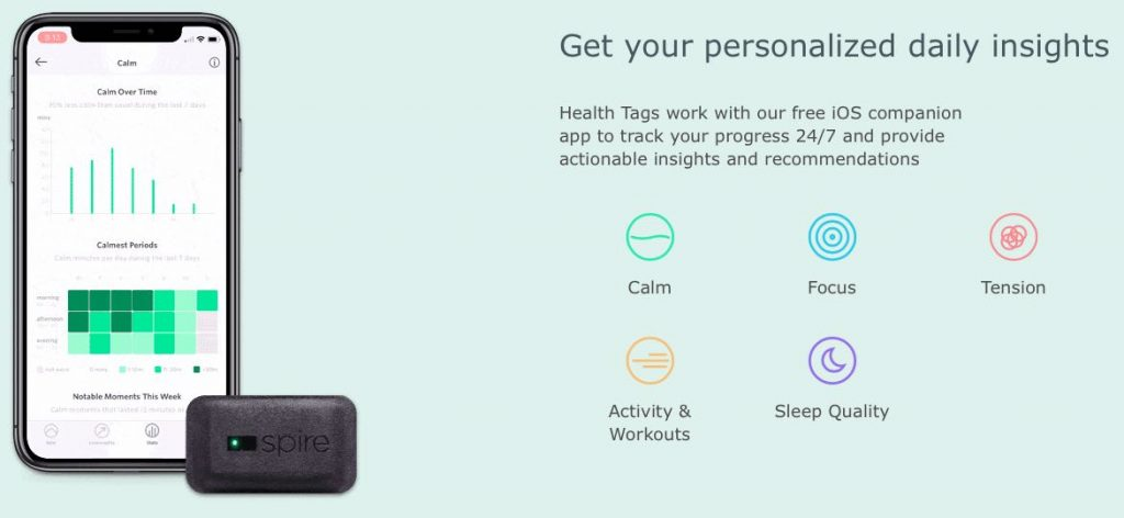 Stress tracker from Spire health