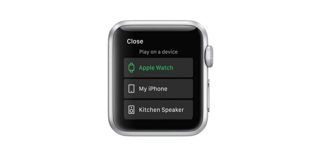 apple watch spotify app
