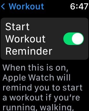 Set up auto detection on Apple Watch