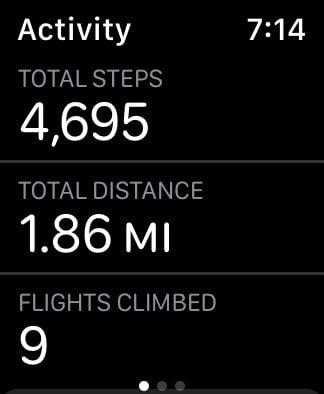 apple watch activity app step count