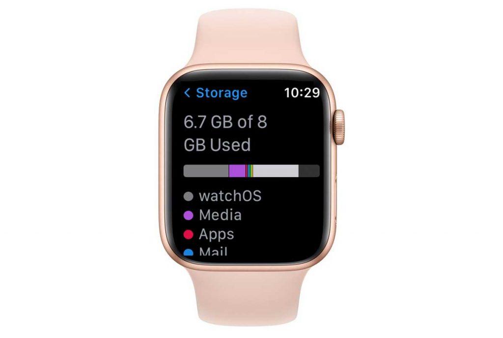 Apple Watch storage graph