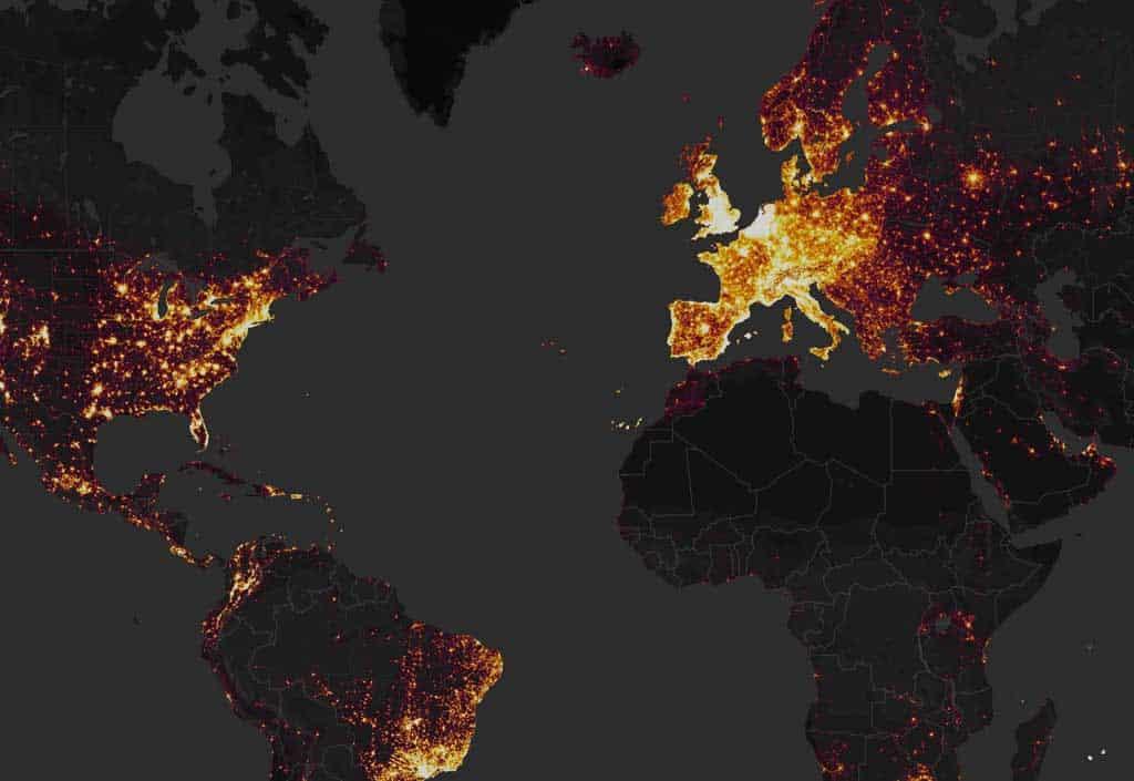 Strava global heat map