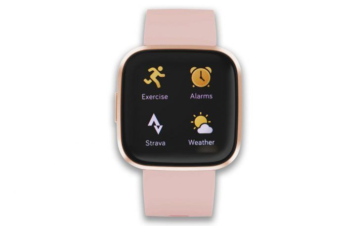 Fitbit Versa Strava app on screen