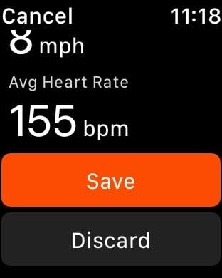 save or discard strava apple watch app workout