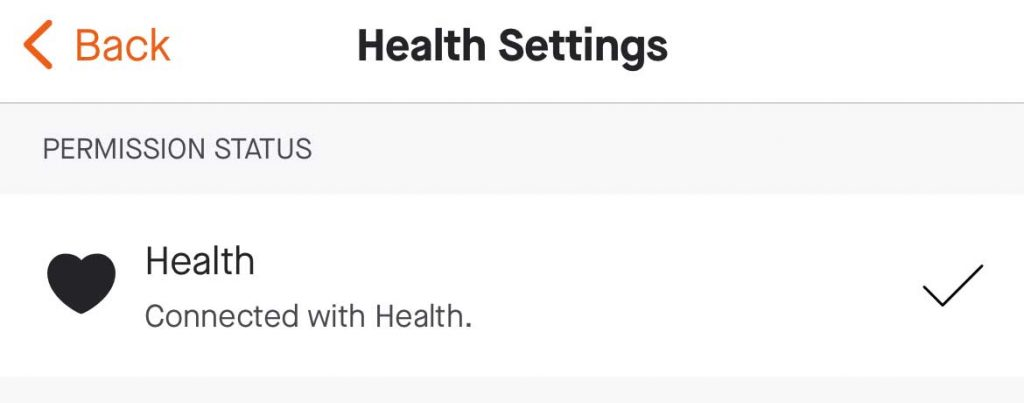 Apple health and Strava connected