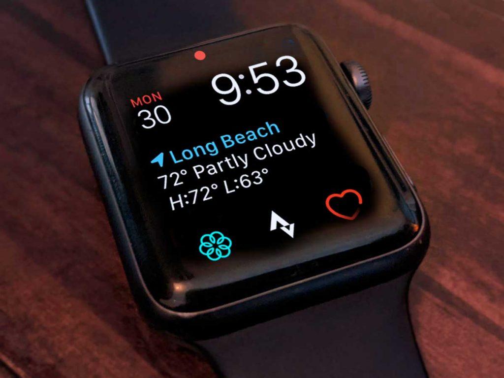 Strava apple watch app complication on Apple Watch face