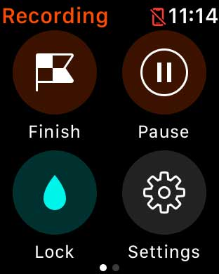 Pause or finish a workout in Strava Apple Watch app