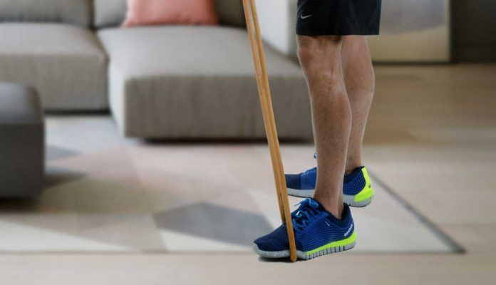 stretch foot with resistance band