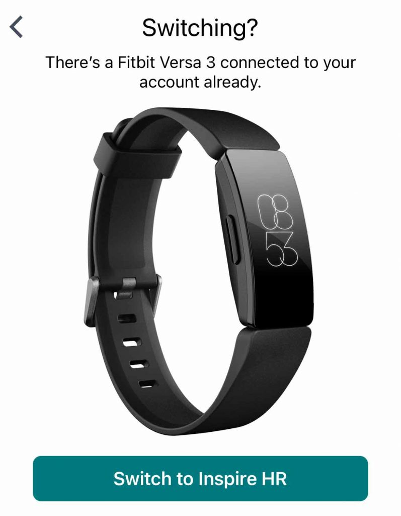 switch to a different Fitbit device in the Fitbit app