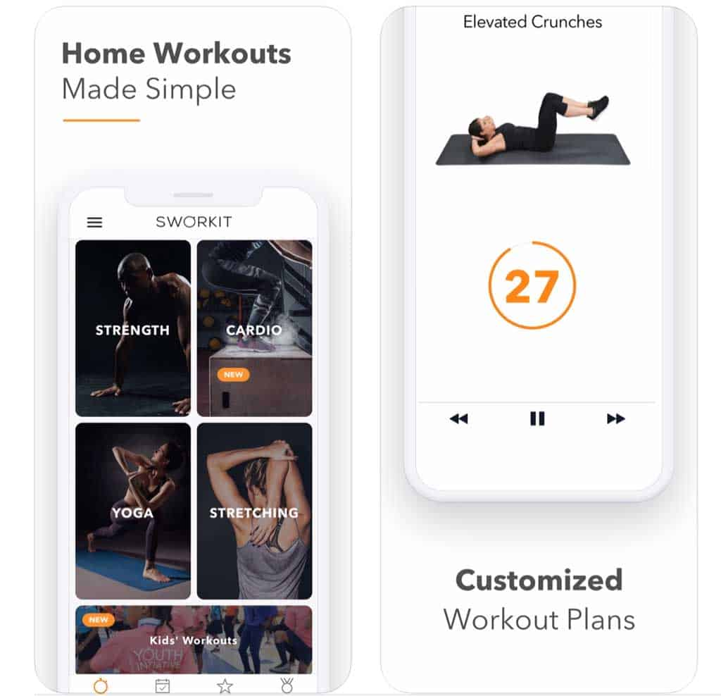 Sworkit Fitness & Workout App  on iPhone