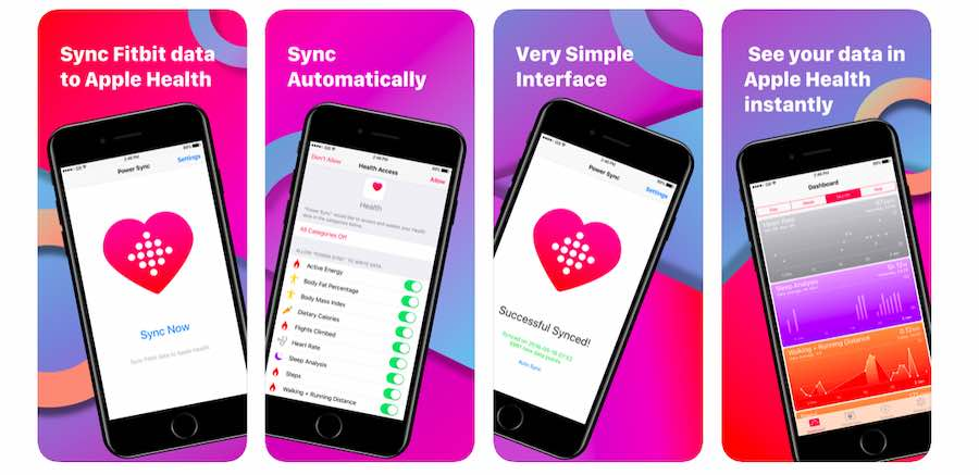Sync weekly fitbit data to apple health