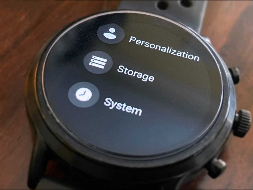 wearOS Fossil System Settings
