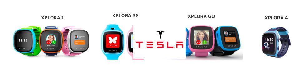 Tesla motors and Xplora smartwatch