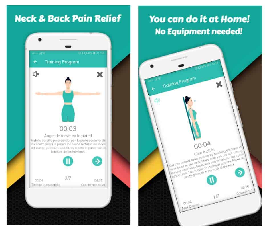 iOS and Android app Text Neck - Forward Head Posture Correction