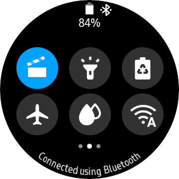 Samsung galaxy watch theater mode icon in Quick Settings