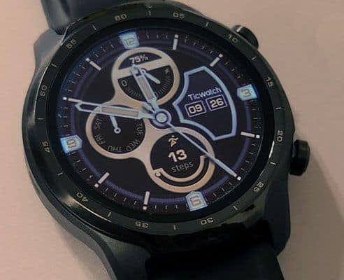 close up of tick watch pro 3 watch face