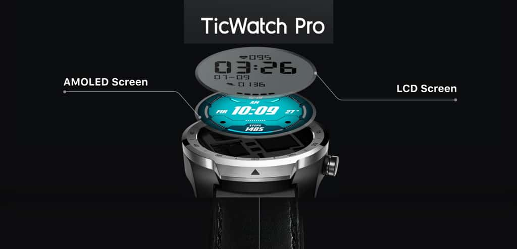 TicWatch Pro screens for power savings